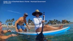 Chicago girl battling cancer fulfills dream of paddling in ocean in Florida