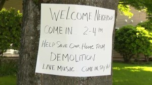 Demonstration held against possible demovictions in East Vancouver