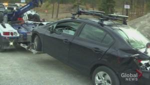 Multi-vehicle crash along Glenmore Road