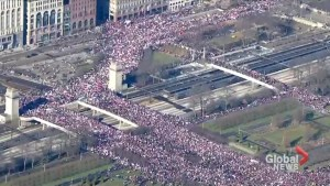 Women's March on Washington: People gather in Chicago for women's march
