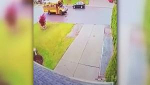 Boy ran over by school bus