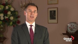 Britain should stand 'rock solid' behind PM May says Foreign Minister Jeremy Hunt