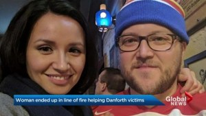Couple caught in line of fire trying to help Danforth shooting victim