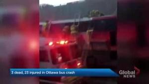 Three people dead, several injured after Ottawa bus crash