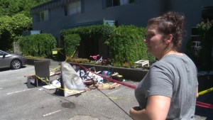 Mother and son lose everything in fire