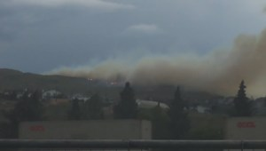'Highly visible' wildfire flares up in Kamloops