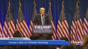 Donald Trumps speaks out about Orlando shooting