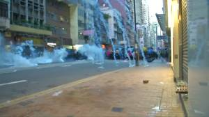 More than 40 people appear in Hong Kong court after being charged with rioting during weekend protests
