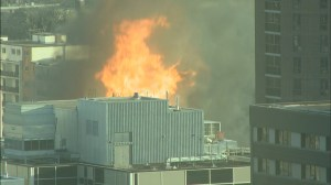 RAW: Huge blaze tears through downtown Winnipeg building