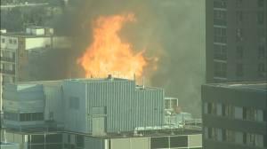 RAW: Huge blaze tears through downtown Winnipeg building