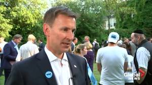 U.K.'s Jeremy Hunt comments on Trump's Twitter attack on minority congresswomen