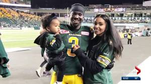 Eskimos receiver tries to keep sense of normalcy for family during CFL season