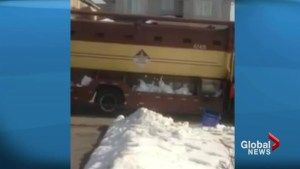 Waste collector disciplined after being seen on video weighing down load with snow