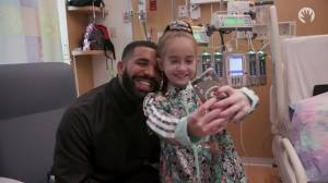 Drake visits 11-year-old awaiting heart transplant at hospital