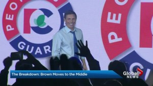 Patrick Brown makes a bold stand in the middle of the road