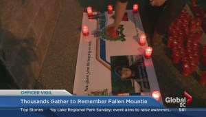 Thousands gather to remember fallen Mountie