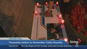 Thousands gather to remember fallen Mountie (00:42)