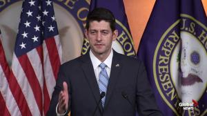 US Speaker of the House Paul Ryan still won't endorse Donald Trump