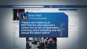 Premiers Wall and Notley continue war of words