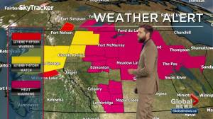Global Edmonton weather forecast: July 22