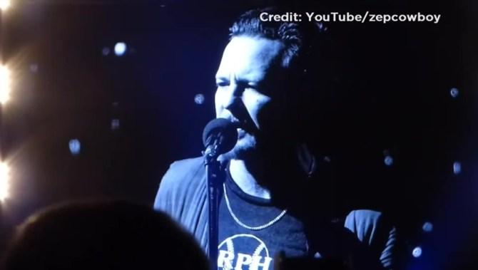 Pearl Jam's Eddie Vedder calls Gord Downie 'very courageous'