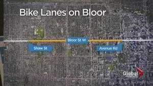 Bike lanes proposal for Bloor Street