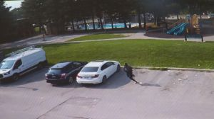 Surveillance video shows shootout near North York playground