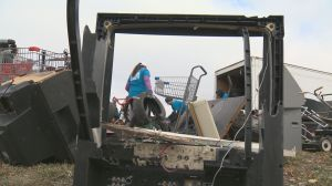 Volunteers clean-up junk from alleys in Regina's North Central