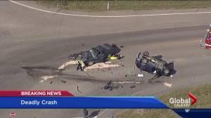 One person dead after collision near Balzac, Alta