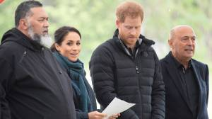 Prince Harry: 'From myself, my wife, and our little bump, we are so grateful to be here'