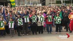 Vigils take place around Okanagan Thursday night to honour Humboldt Broncos