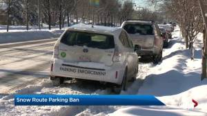 Snow route parking ban to be put in place to help clear Calgary roads
