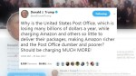 Trump targets Amazon in call for postal service to hike prices