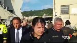 Italian prime minister visits scene of bridge collapse