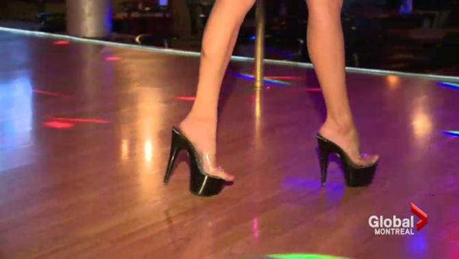 Calgary in strip club