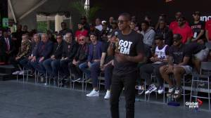 Raptors victory parade: Masai Ujiri promises more titles in Toronto