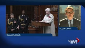Ontario Liberals deliver throne speech at Queen's Park