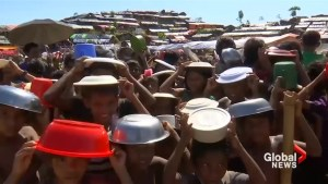 Thousands of starving Rohingya refugee children scrounge for food in Bangladesh camps