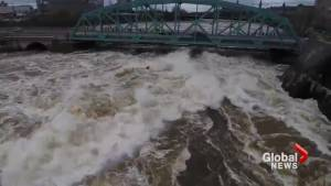 Amazing drone video shows high waters churn through Ottawa's Chaudière Falls