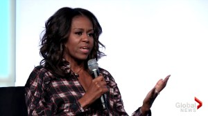 Michelle Obama says young girls should know they have a voice to speak out on sexual harassment