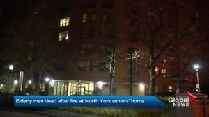 Elderly man dead after overnight fire in North York high-rise
