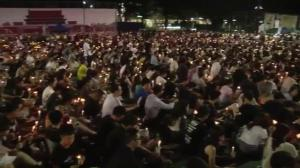 Thousands attend candlelight vigil on anniversary of Tiananmen Square massacre