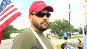 Parent of Santa Fe High School student criticizes MAGA hat-wearing, gun-toting man who arrived to 'Make America Great Again'