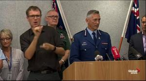 New Zealand police discuss suspects in Christchurch mosque shootings
