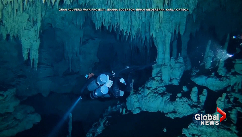 World's longest underwater cave discovered in Mexico