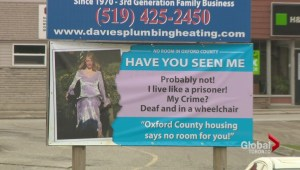 Ontario mother desperate for housing for daughter, puts up billboard