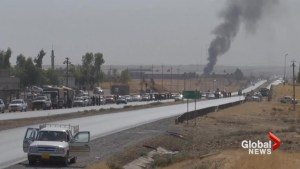 Fighting continues in final Kurdish stronghold after peshmerga withdrawal from Kirkuk