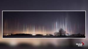 Alberta cold snap creates stunning images of light pillars