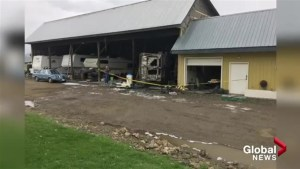 Spallumcheen barn fire caused by overturned propane tank