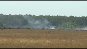 Brush fire near Bolsover under control
